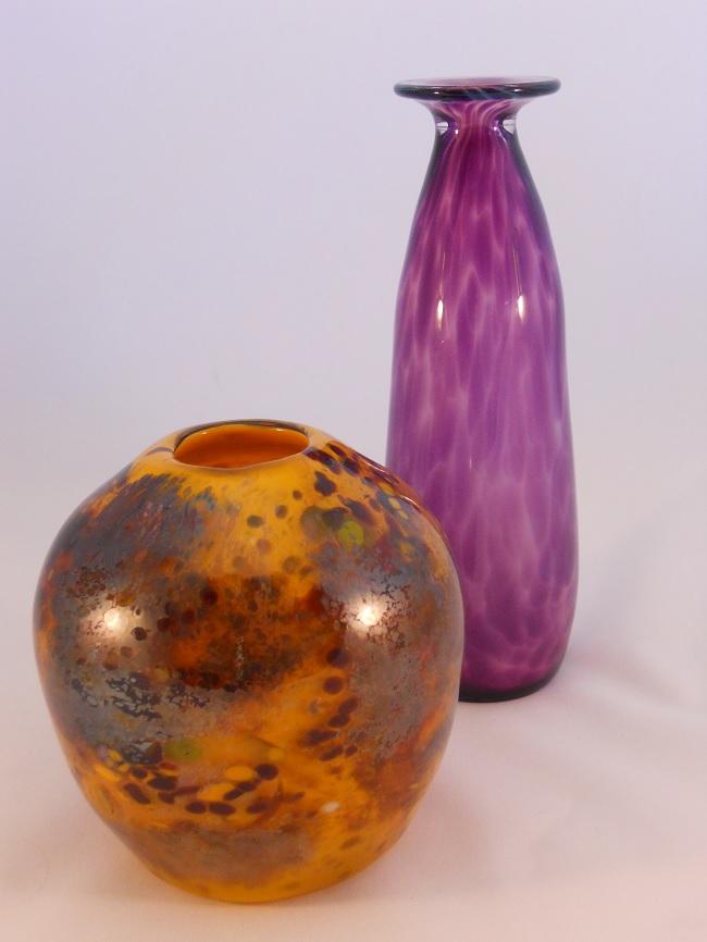 Orange/Purple Vase